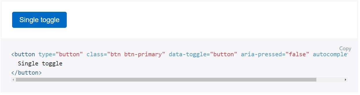Toggle states  supplied by Bootstrap buttons