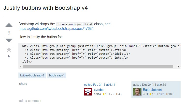 Justify buttons  along with Bootstrap v4