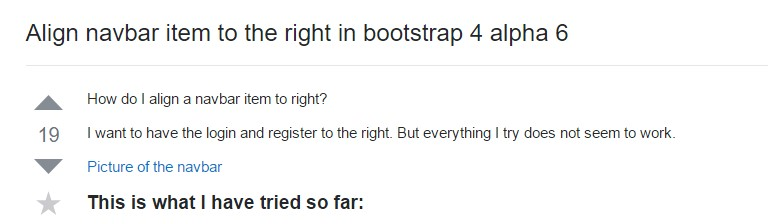 Coordinate navbar  thing to the right in Bootstrap 4 alpha 6