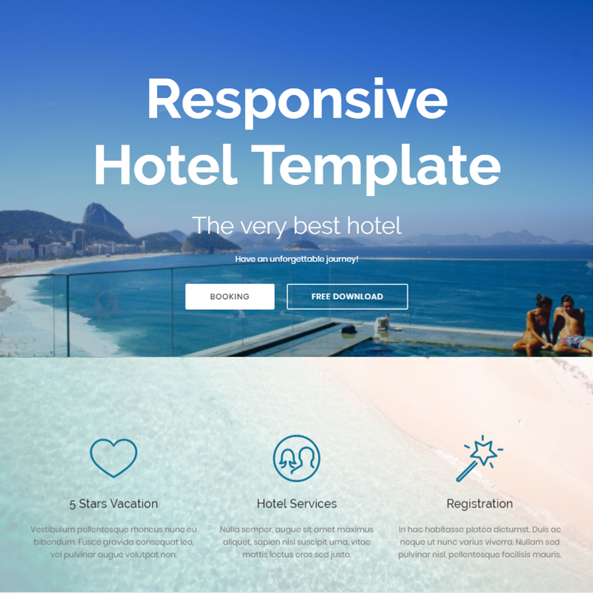 Free Download Bootstrap Hotel Templates