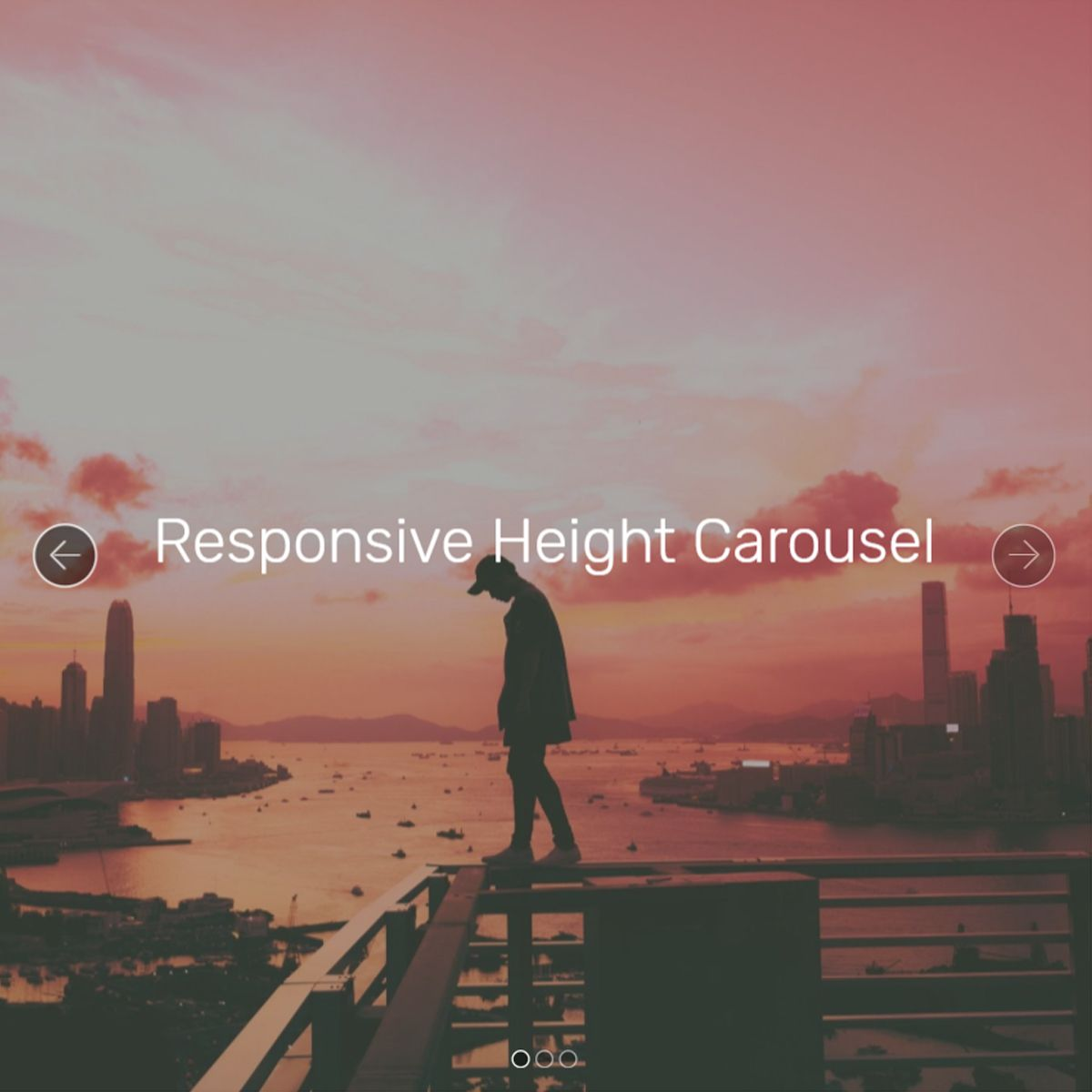 HTML Bootstrap Image Carousel