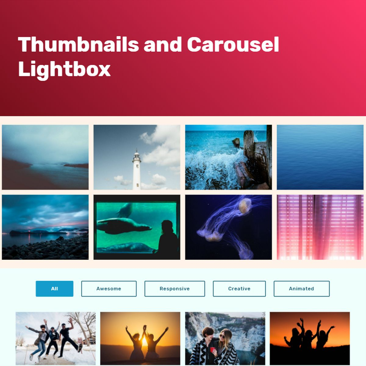 CSS3 Bootstrap Illustration Carousel
