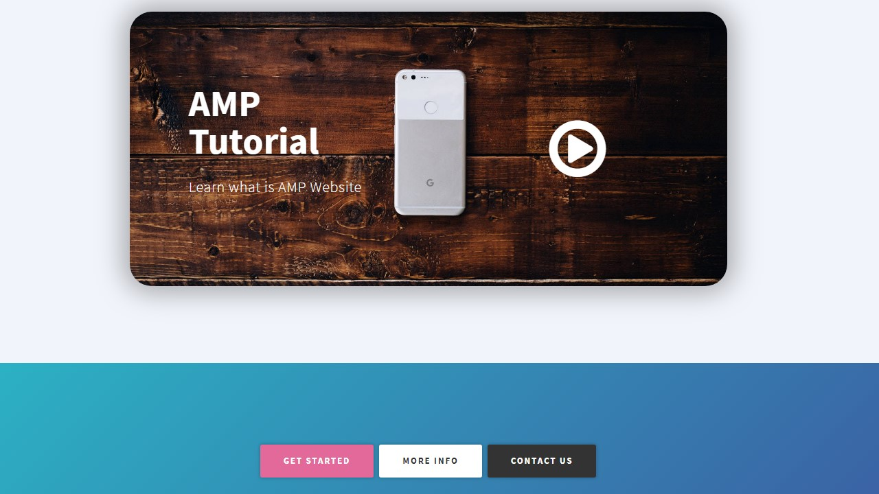 AMP Development Team Page Template