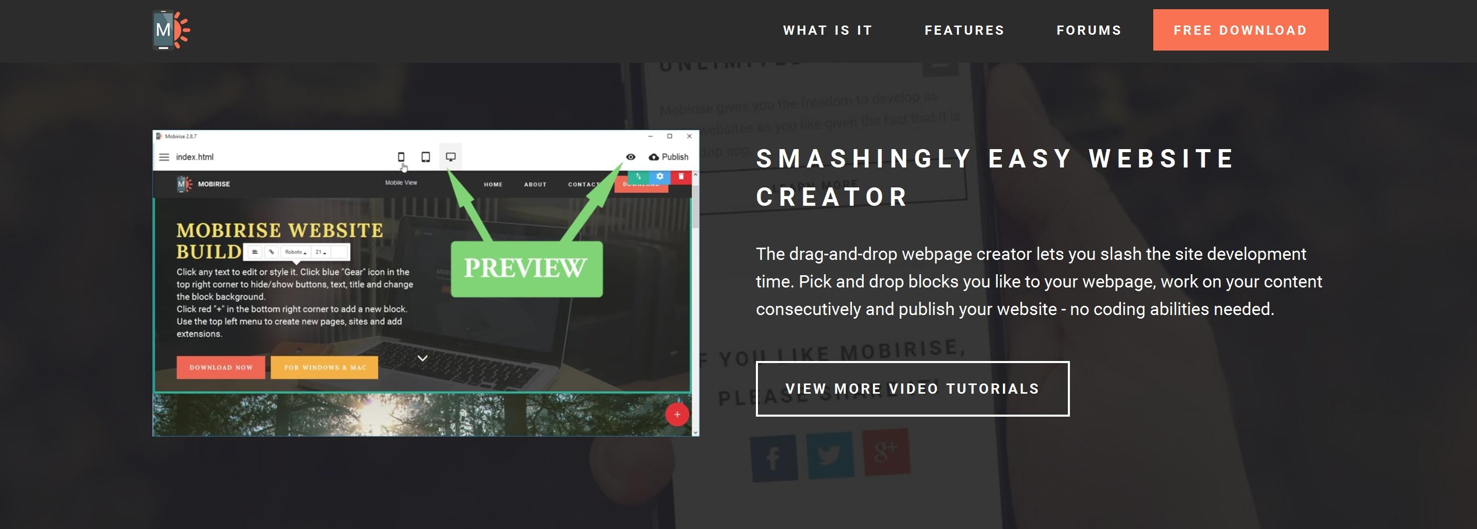 Responsive Easy Website Creator
