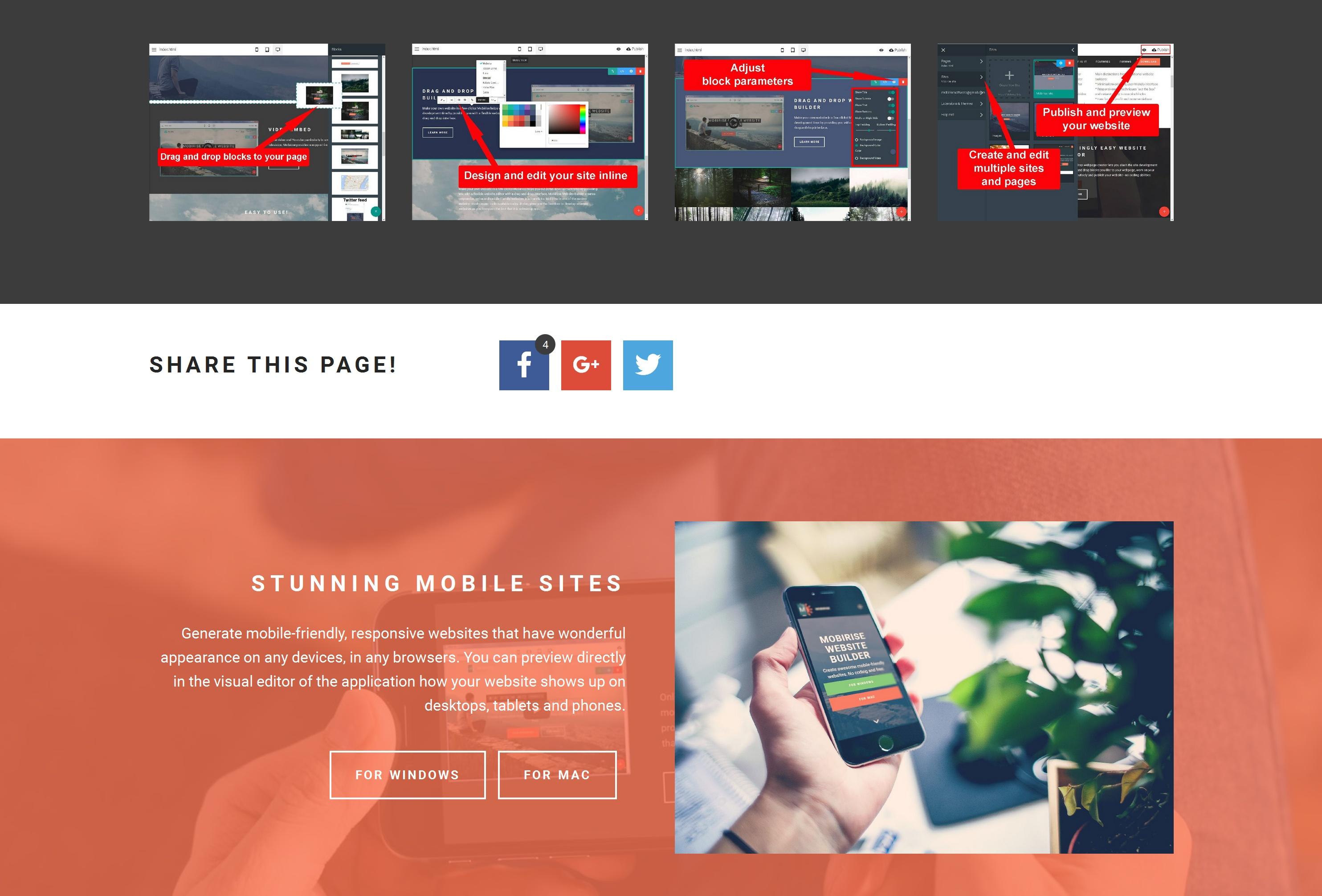 Fast and Simple Website Creator Tool