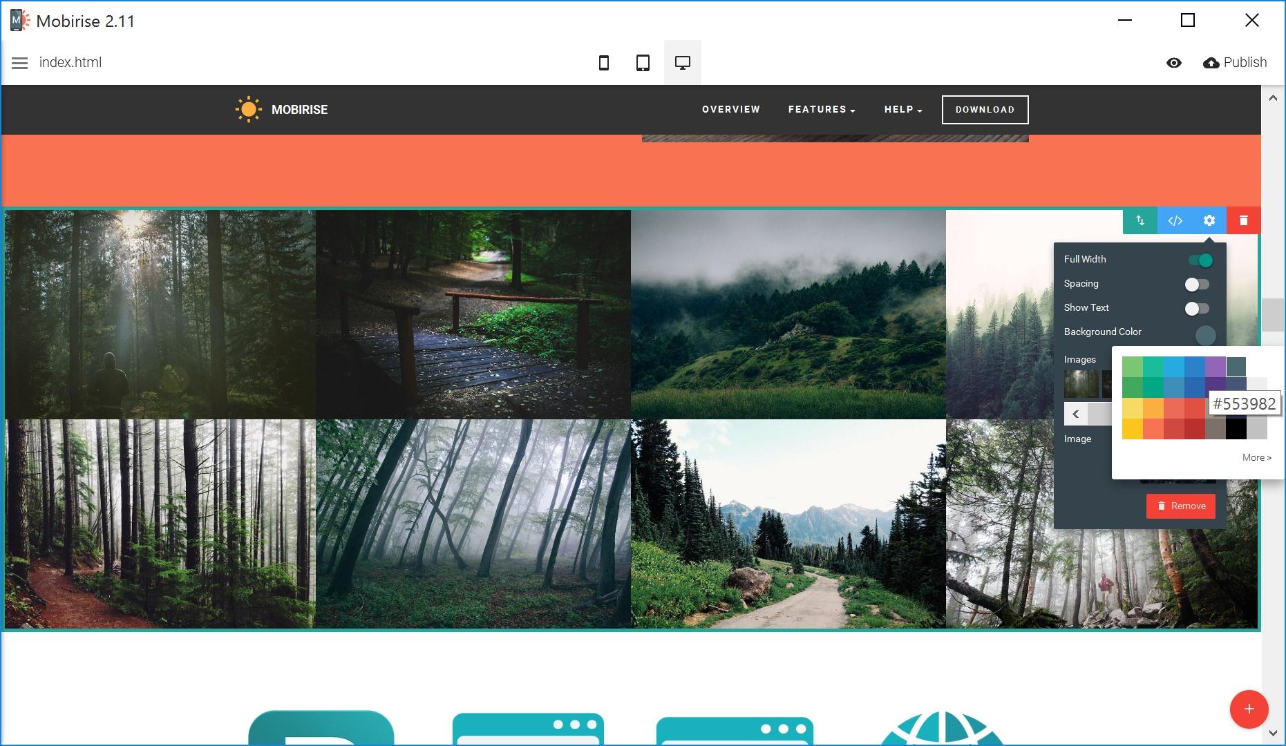 Offline Simple Website Builder