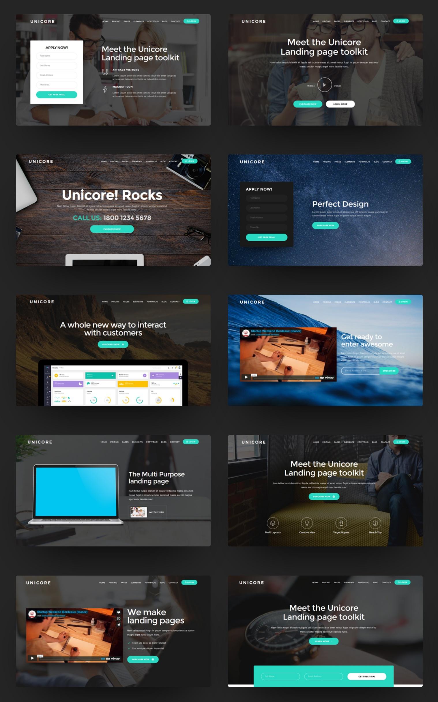 Premium Bootstrap Landing Page Theme