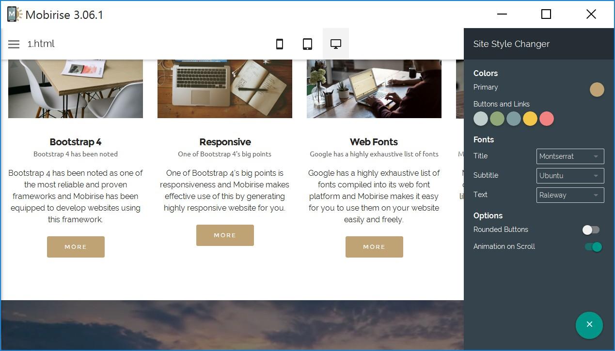 Simple Responsive Website Creator