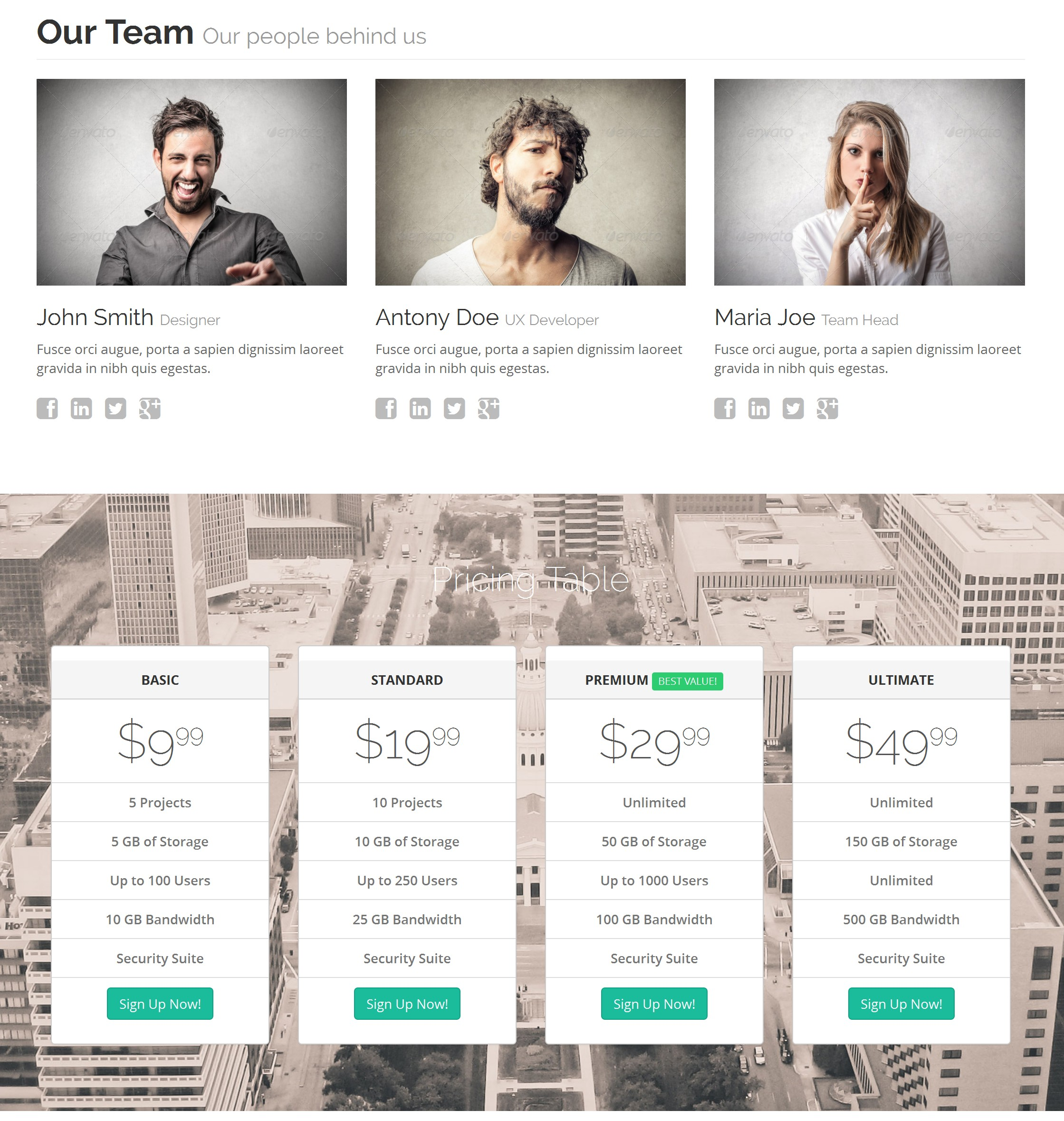 CSS3 Bootstrap Business Theme