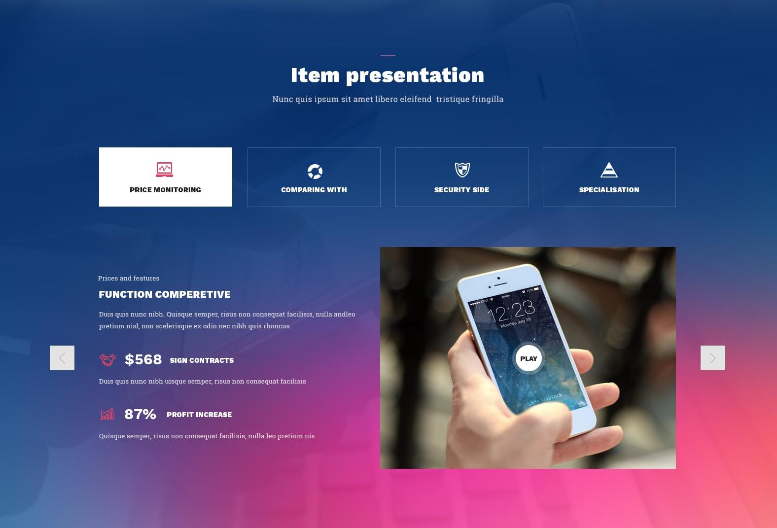 Responsive Bootstrap App Theme