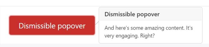 Dismiss  upon next click