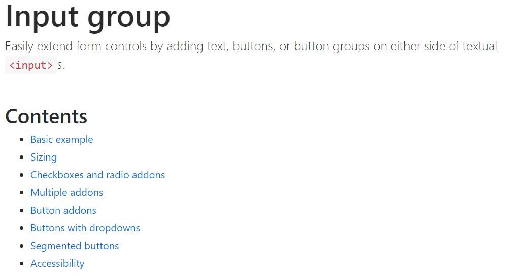 Bootstrap input  main  information