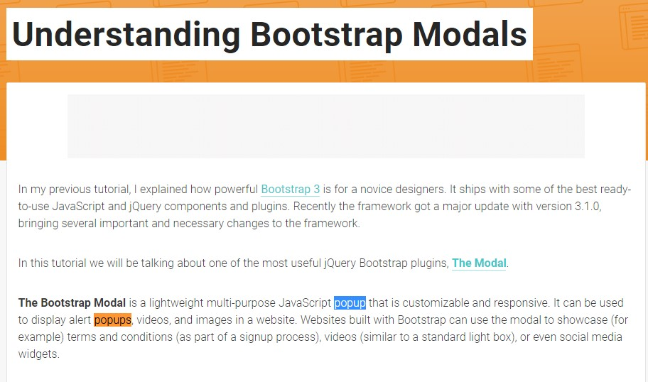 An additional  valuable  content  regarding to Bootstrap Modal Popup