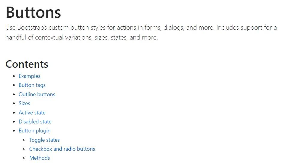 Bootstrap toggle  main documentation