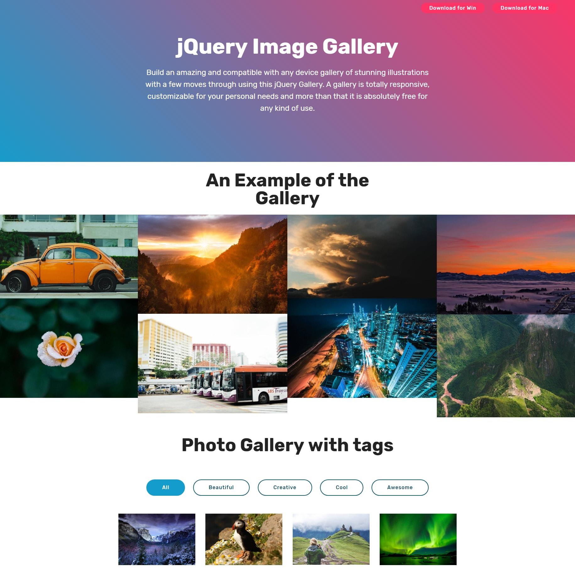 HTML5 Bootstrap Illustration Gallery