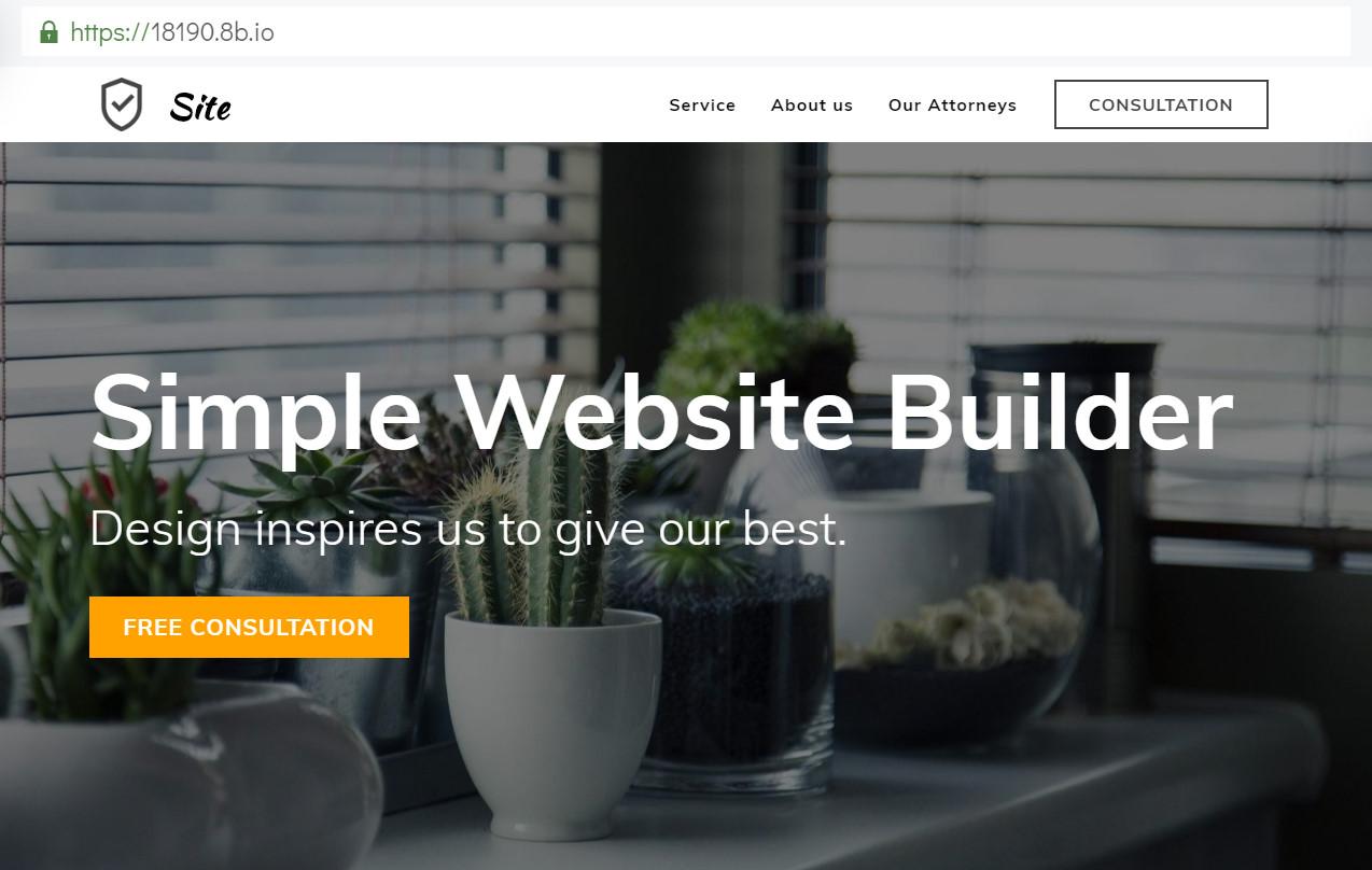 Simple Website Builder
